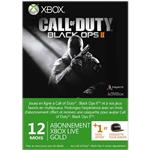 Carte pr-paye Xbox Live Gold 12 Mois Microsoft pour Xbox 360 + 1 mois offert + 1 avatar Call of Duty Black Ops 2
